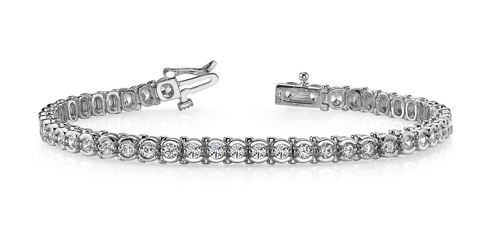 Image of Round Prong Set Tennis Bracelet