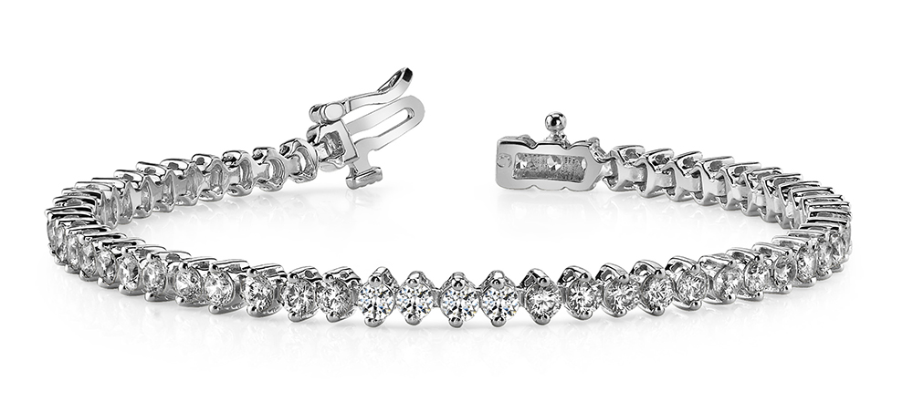 Image of Classic 2 Prong Diamond Tennis Bracelet