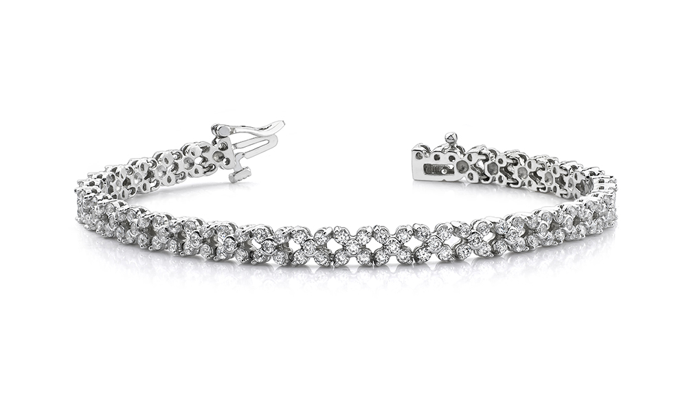 Image of Diamond Round Flower Bracelet