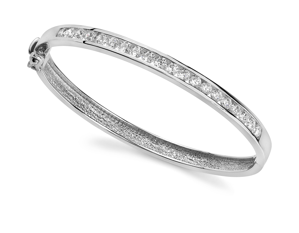 Image of Channel Set Diamond Bangle