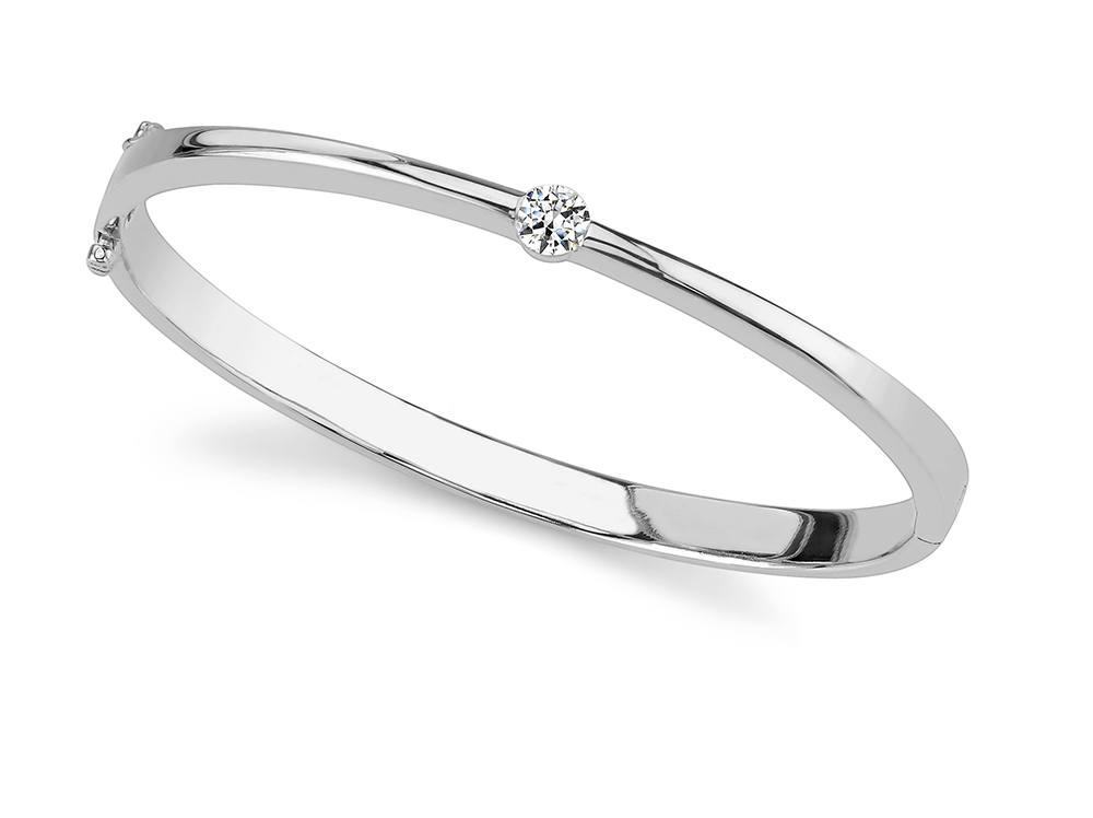 Image of Single Shiny Diamond Bangle
