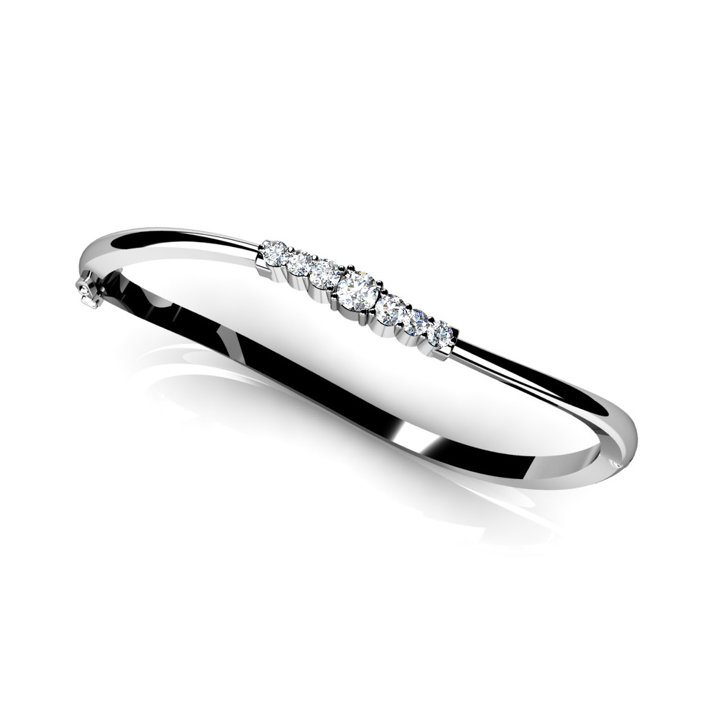 Image of Stylish Seven Stone Diamond Bangle