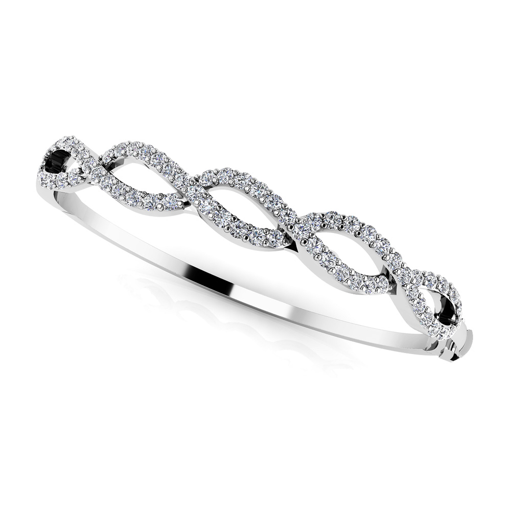 Image of Diamond Woven Rope Bangle