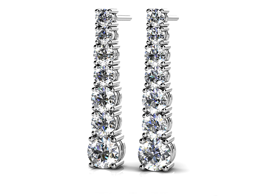 Image of Diamond Cascade Drop Earrings