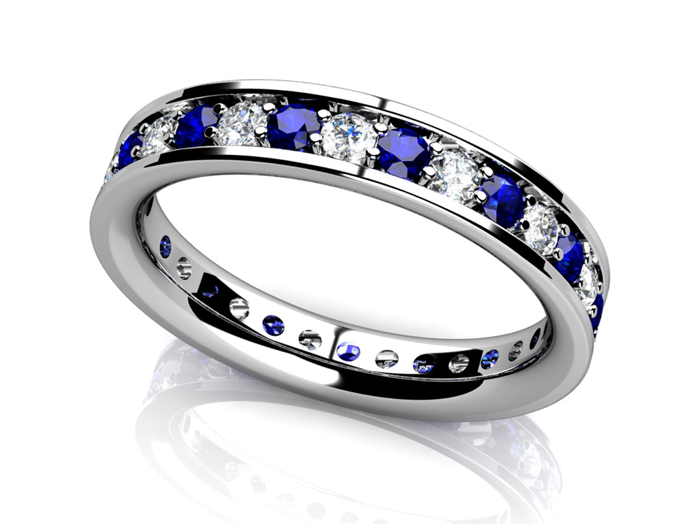 Image of Classic Single Row Gemstone Eternity Ring
