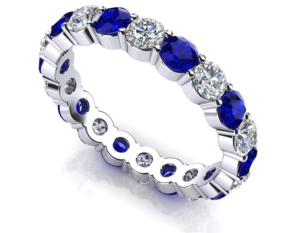 Image of Eternally Yours Gemstone Eternity Band