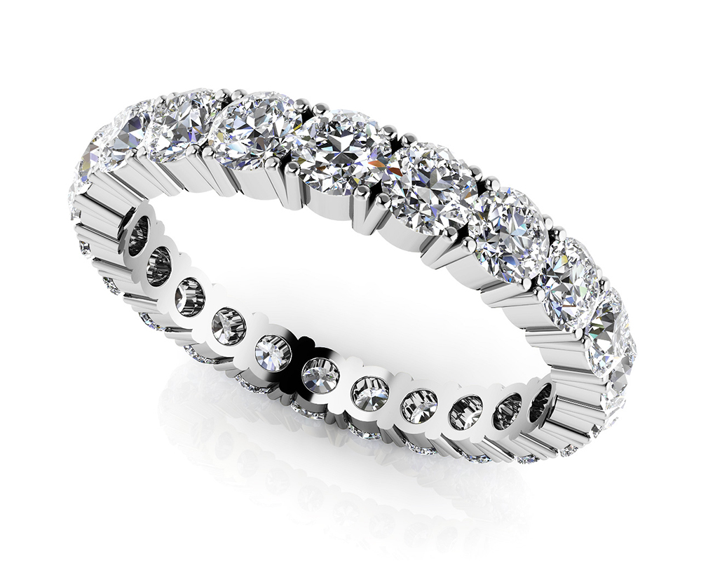 Image of Everlasting Love Four Prong Diamond Eternity Ring