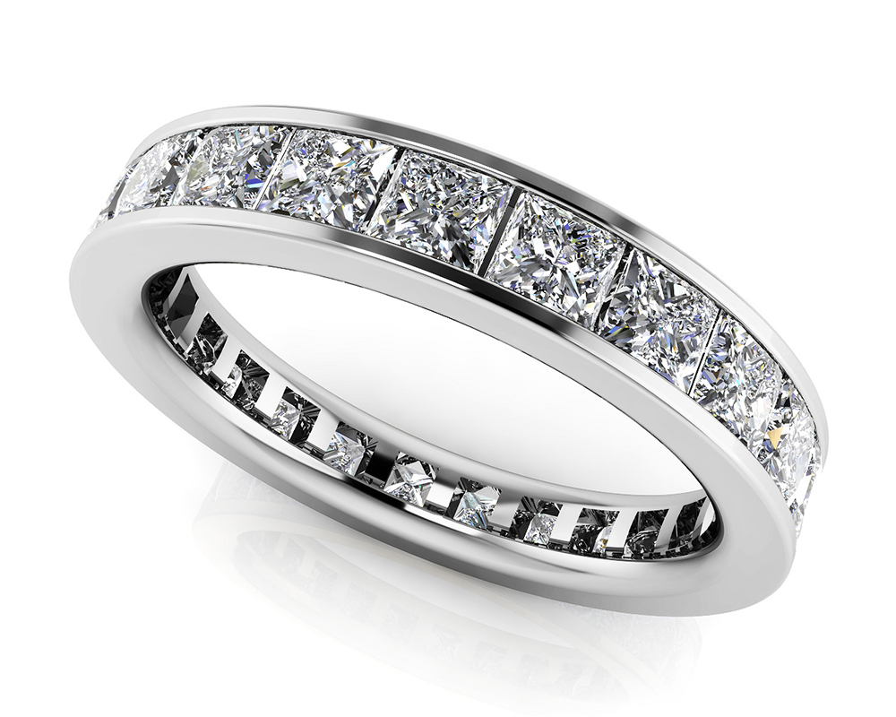 Image of Channel Set Princess Diamond Eternity Band