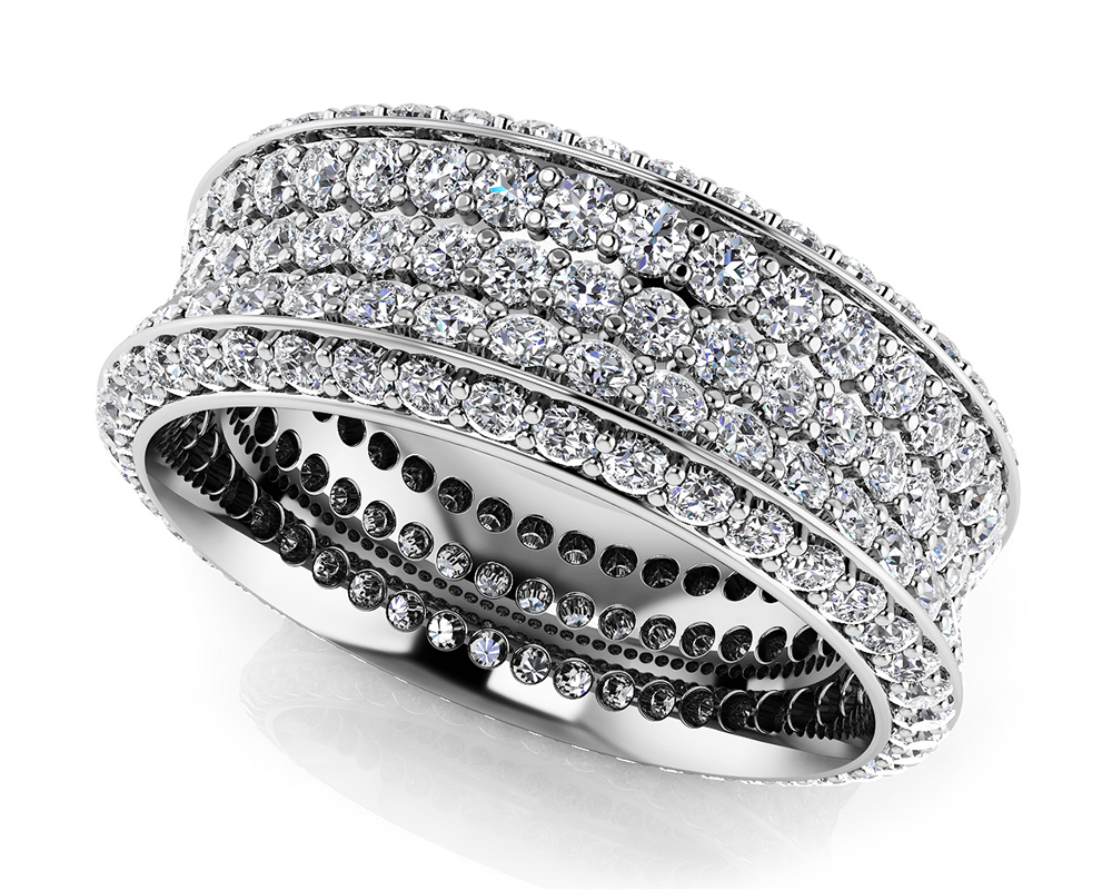 Image of Brilliant 5 Row Eternity Ring