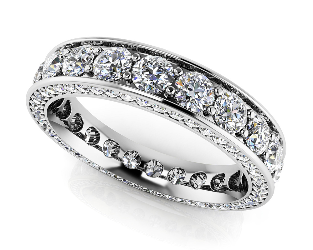Image of Brilliant Eternity Ring with Side Stones