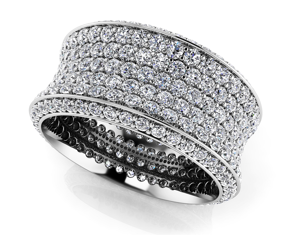 Image of Brilliant 7 Row Eternity Ring
