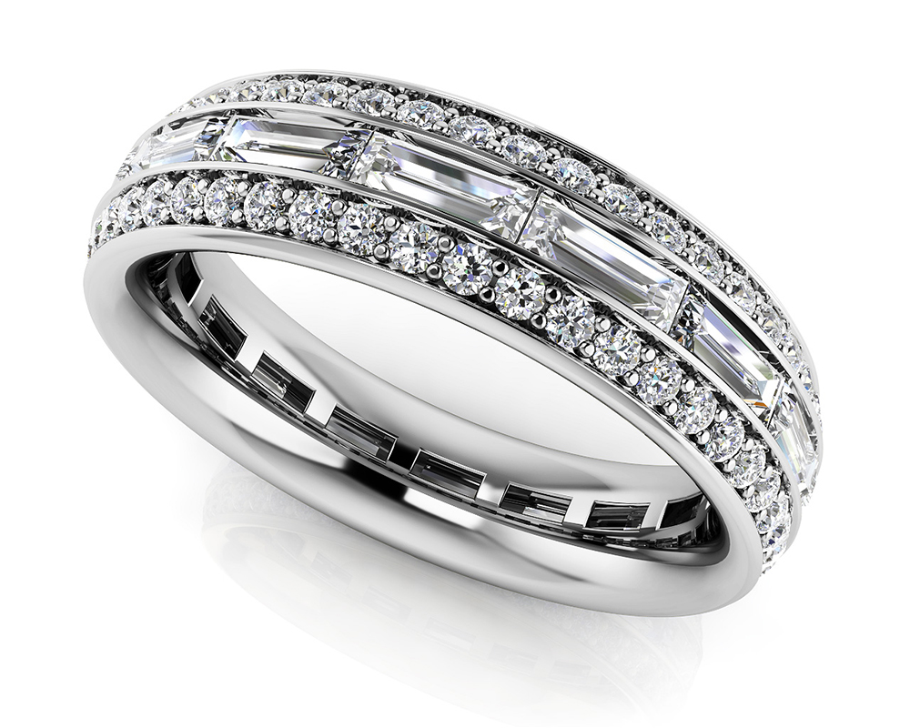 Image of Stunning Baguette and Round Eternity Ring