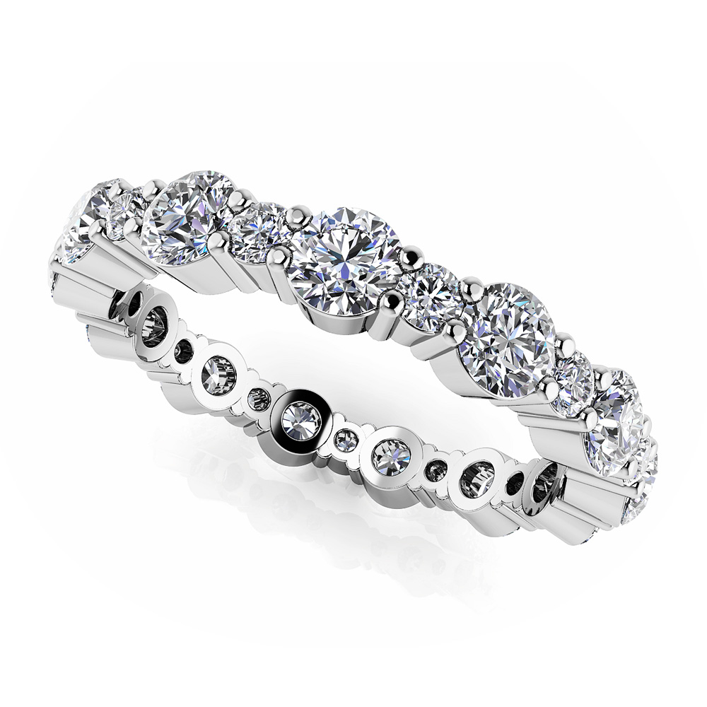 Image of Alternating Diamond Eternity Ring