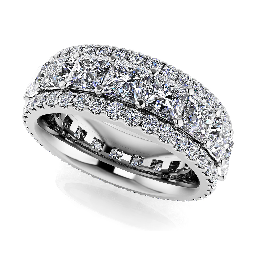 Image of Amore Princess and Round Diamond Eternity Ring