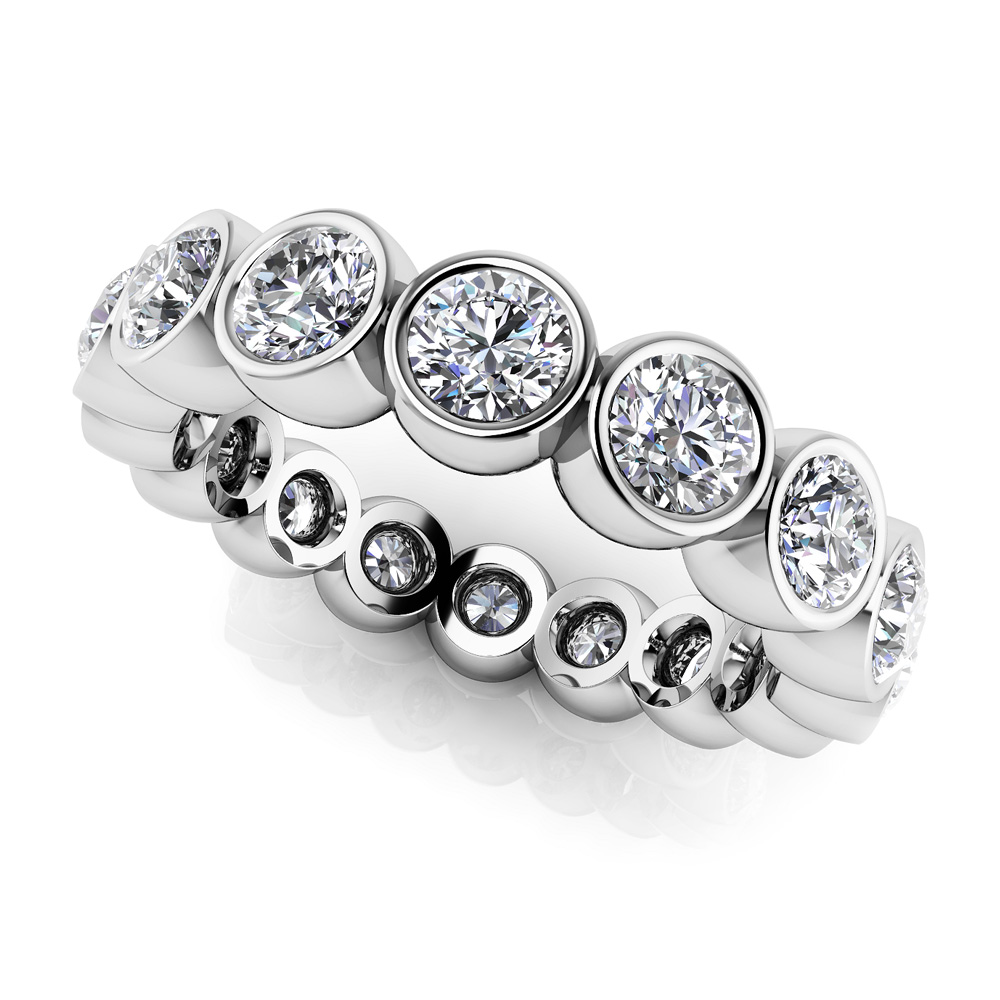 Image of Bezel Set Diamond Eternity Band