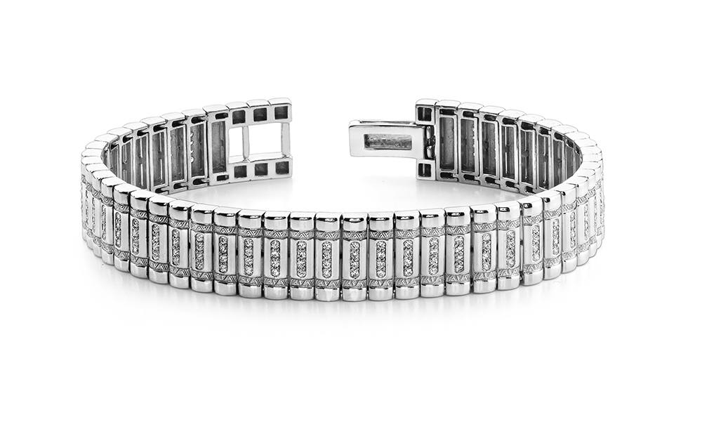 Image of Diamond Column Mens Bracelet