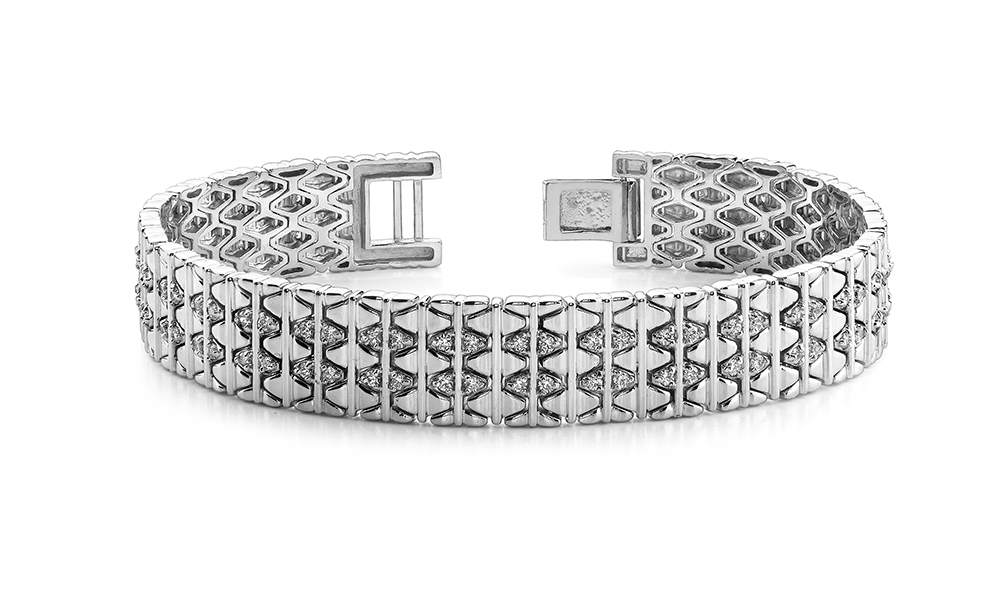 Image of Elliptical Mens Diamond Bracelet