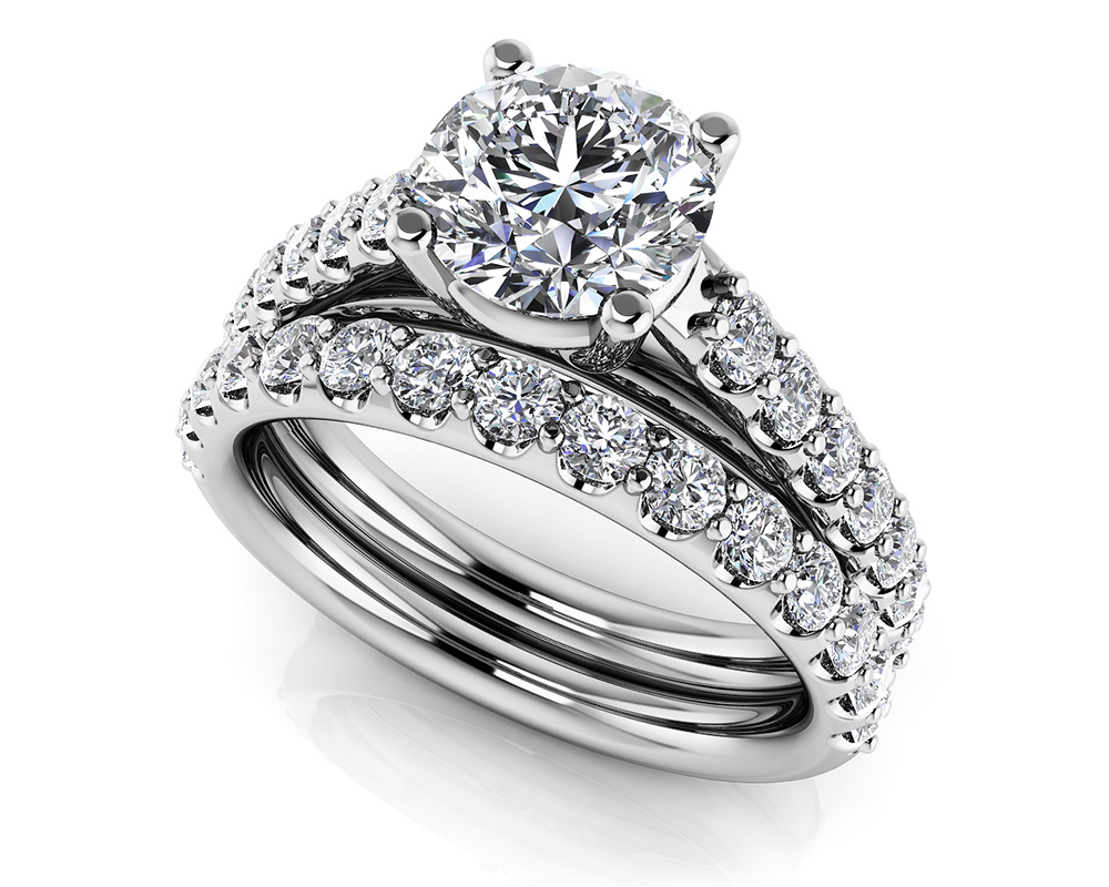 Image of Classic Sparkle Diamond Wedding Set