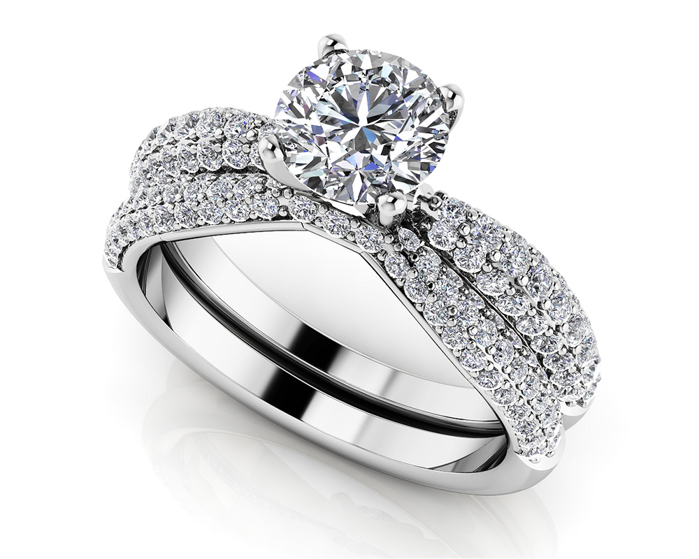 Image of Brilliant Diamond Bridal Ring Set