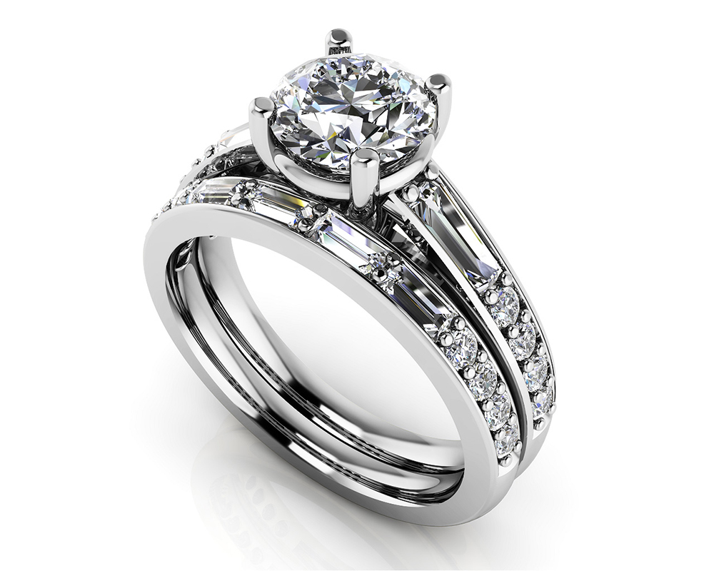 Image of Alluring Diamond Bridal Set