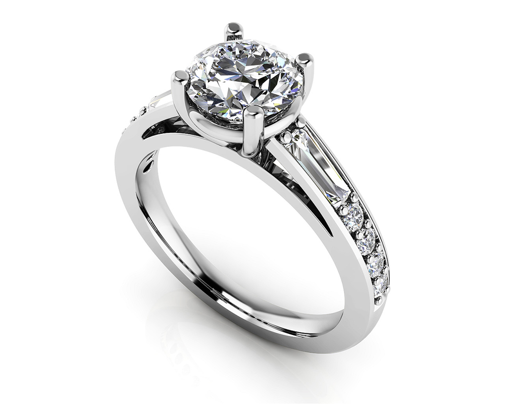 Image of Alluring Diamond Engagement Ring