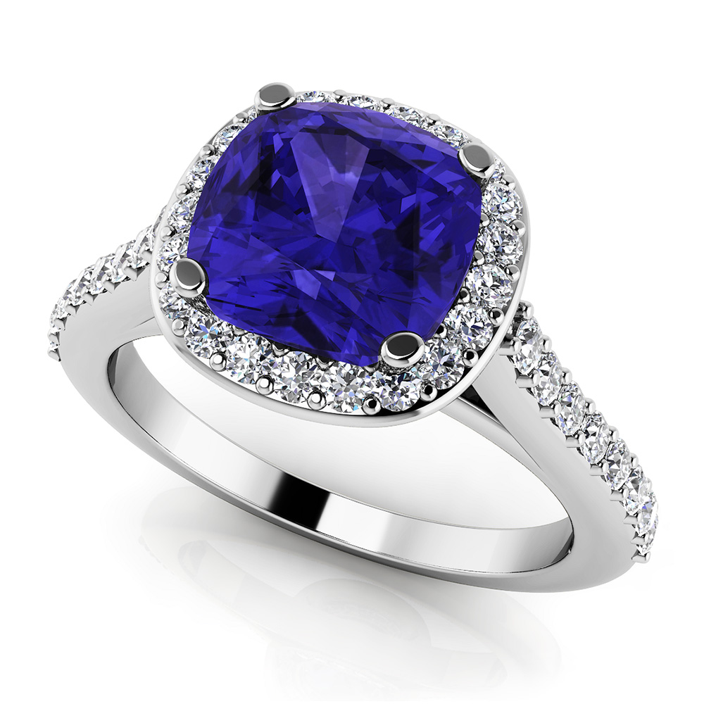 Image of Classic Love Cushion Cut Gemstone Anniversary Ring