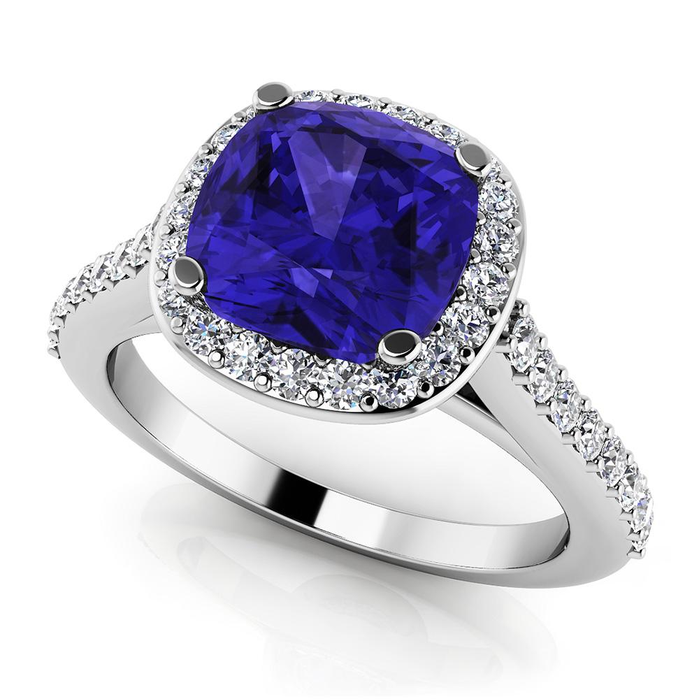 Image of Classic Love Cushion Cut Gemstone Anniversary Ring