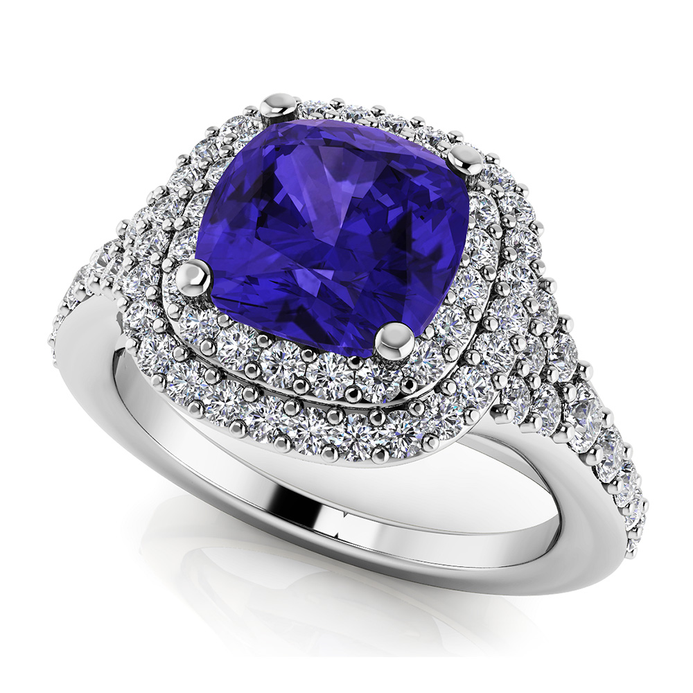 Image of Andrea Love Cushion Cut Gemstone Anniversary Ring