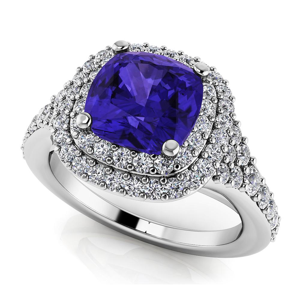 Image of Andrea Love Cushion Cut Gemstone Anniversary Ring