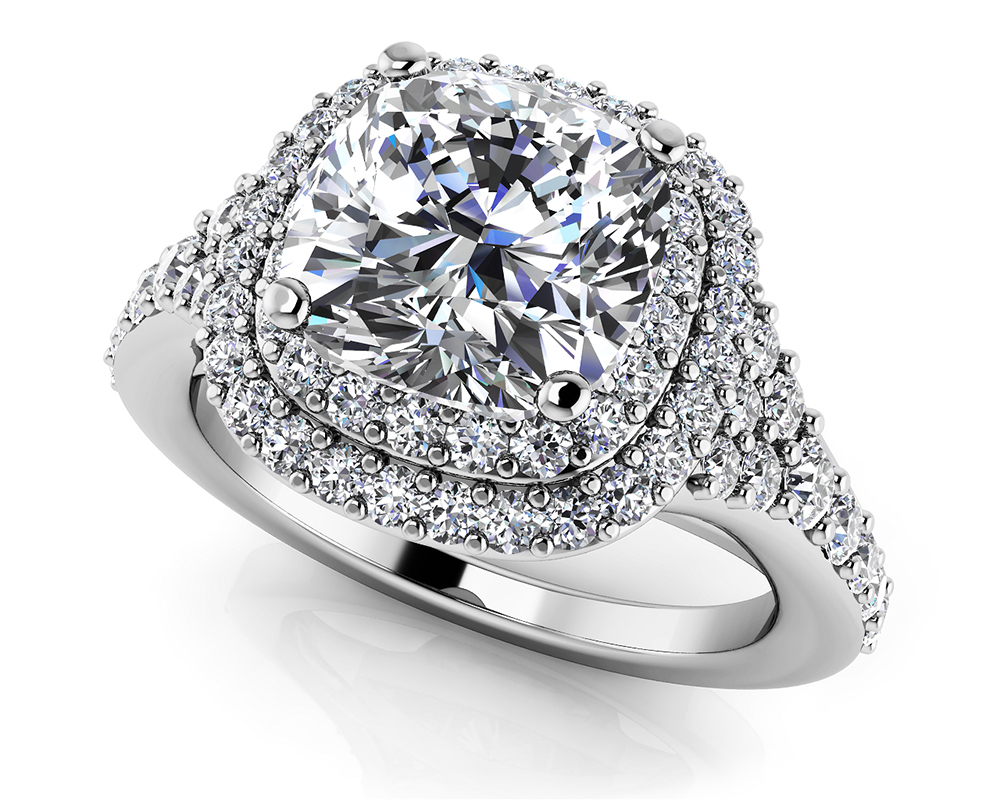 Image of Andrea Love Cushion Cut Engagement Ring