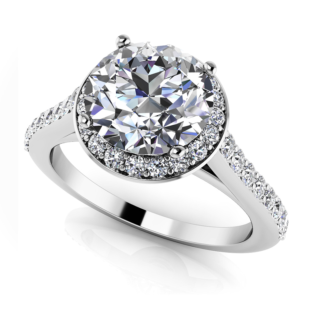 Image of Heavenly Halo Engagement Ring