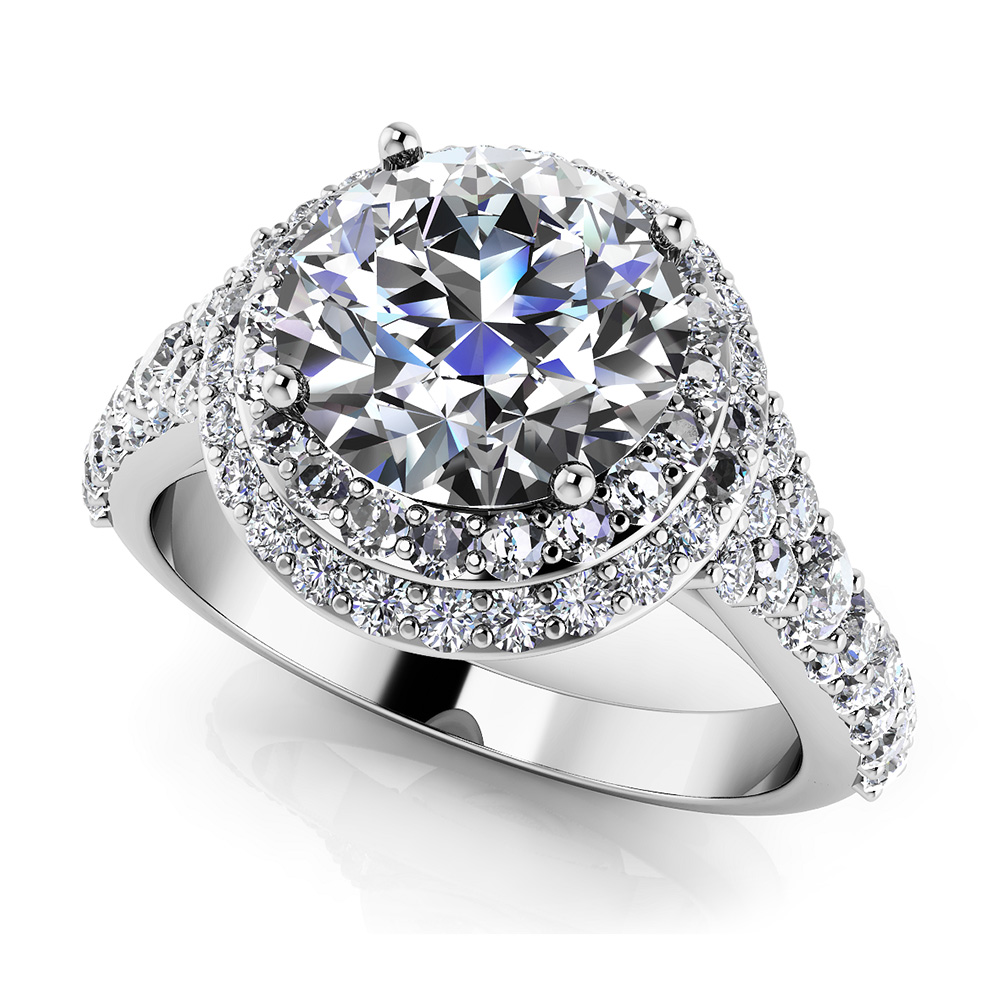 Image of Fancy Double Halo Engagement Ring