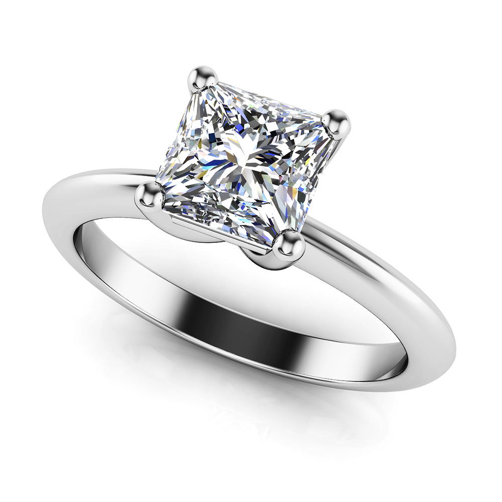 Infinite Love Princess Cut Diamond Solitaire Engagement Ring