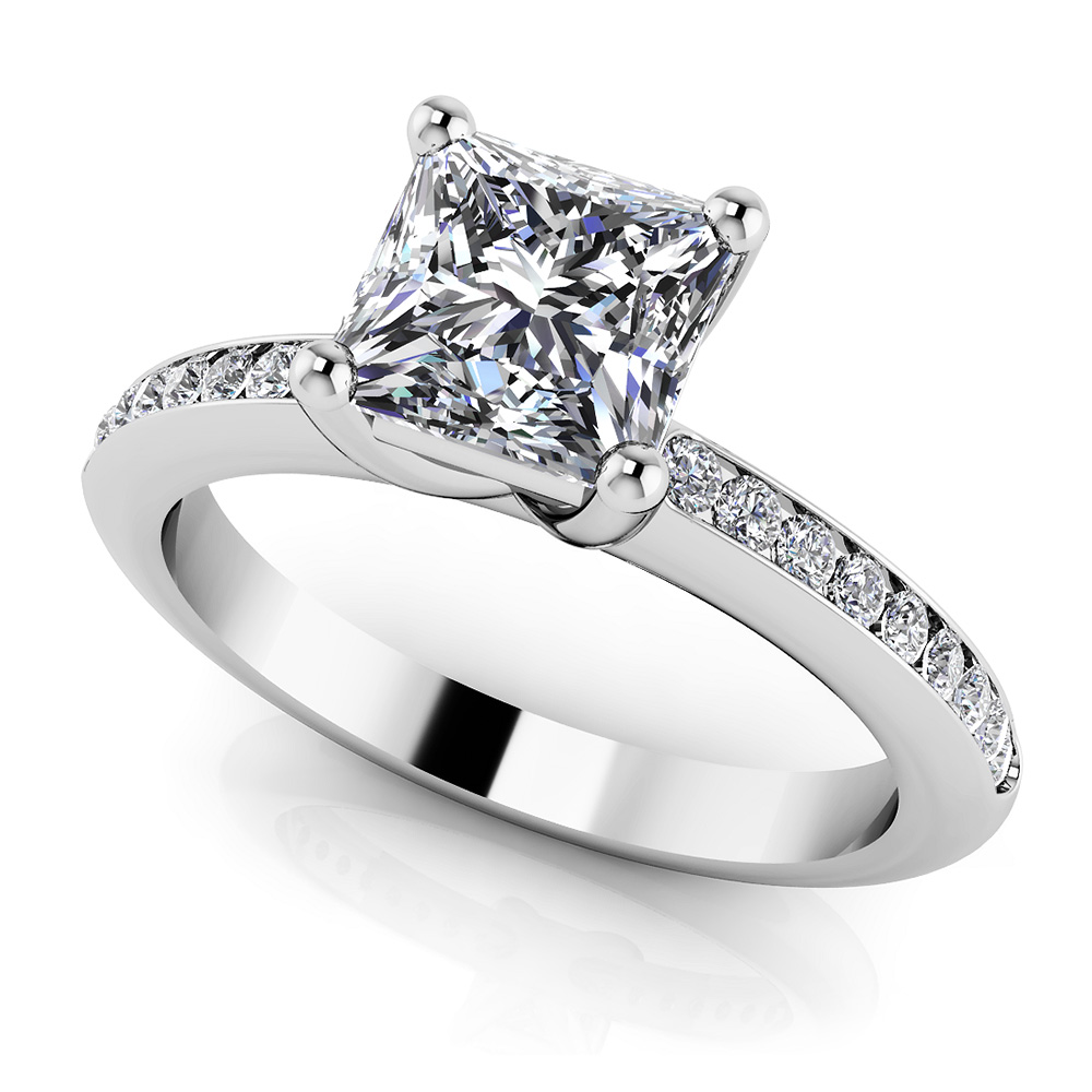 Image of Blissful Princess Engagement Ring