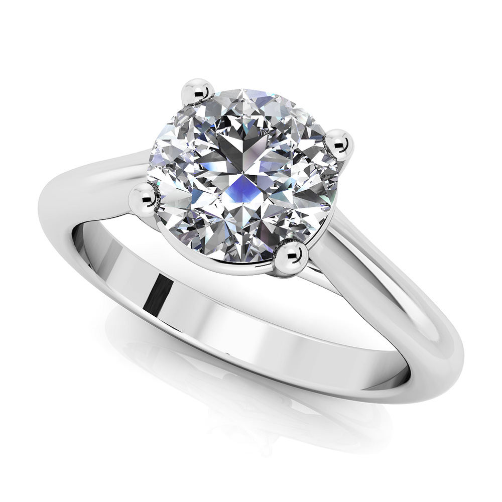 Image of Round Diamond Cathedral Engagement Ring