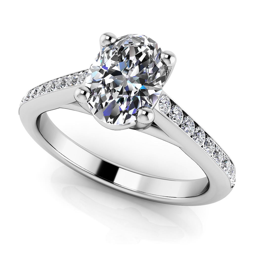 Image of Alluring Oval Diamond Engagement Ring