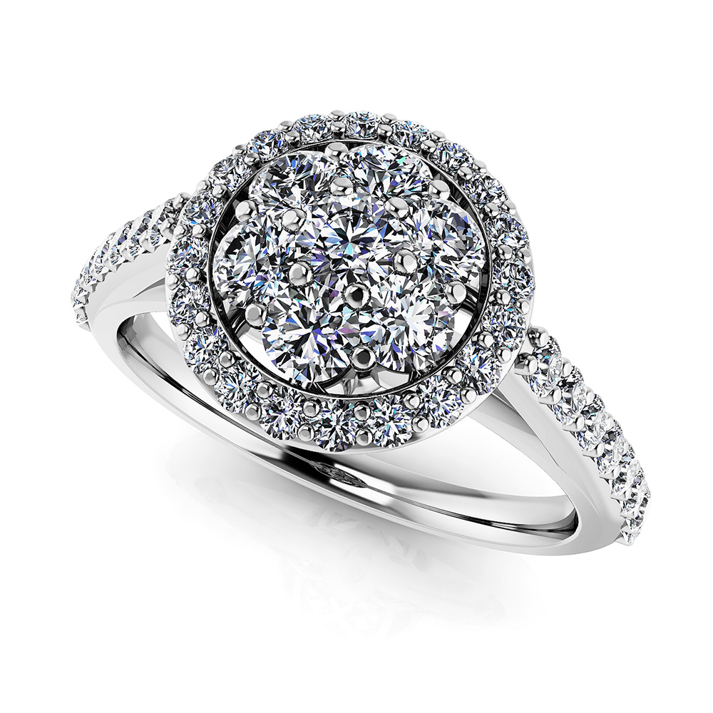 Image of Blossoming Love Diamond Cluster Ring