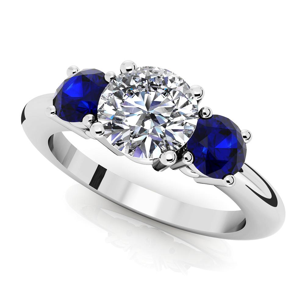 Image of 3 Stone Round Gemstone Ring