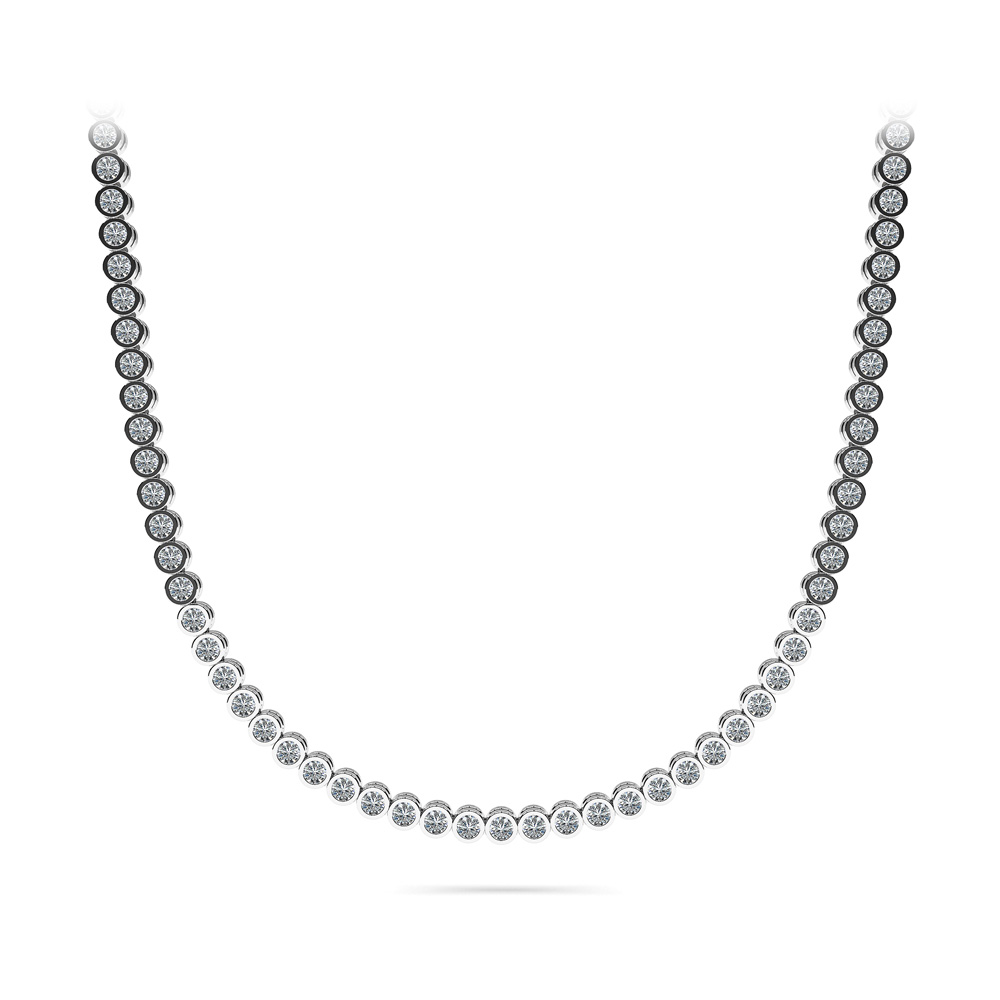Image of Circle of Love Diamond Strand Necklace