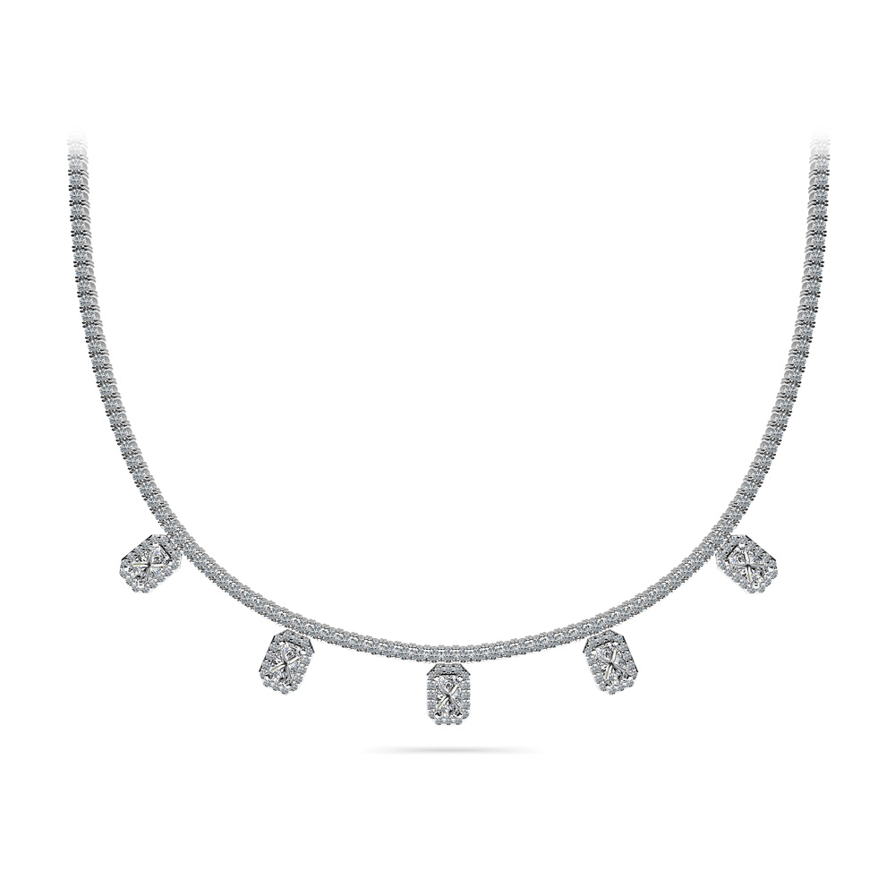 Image of Alluring Diamond Tennis Necklace