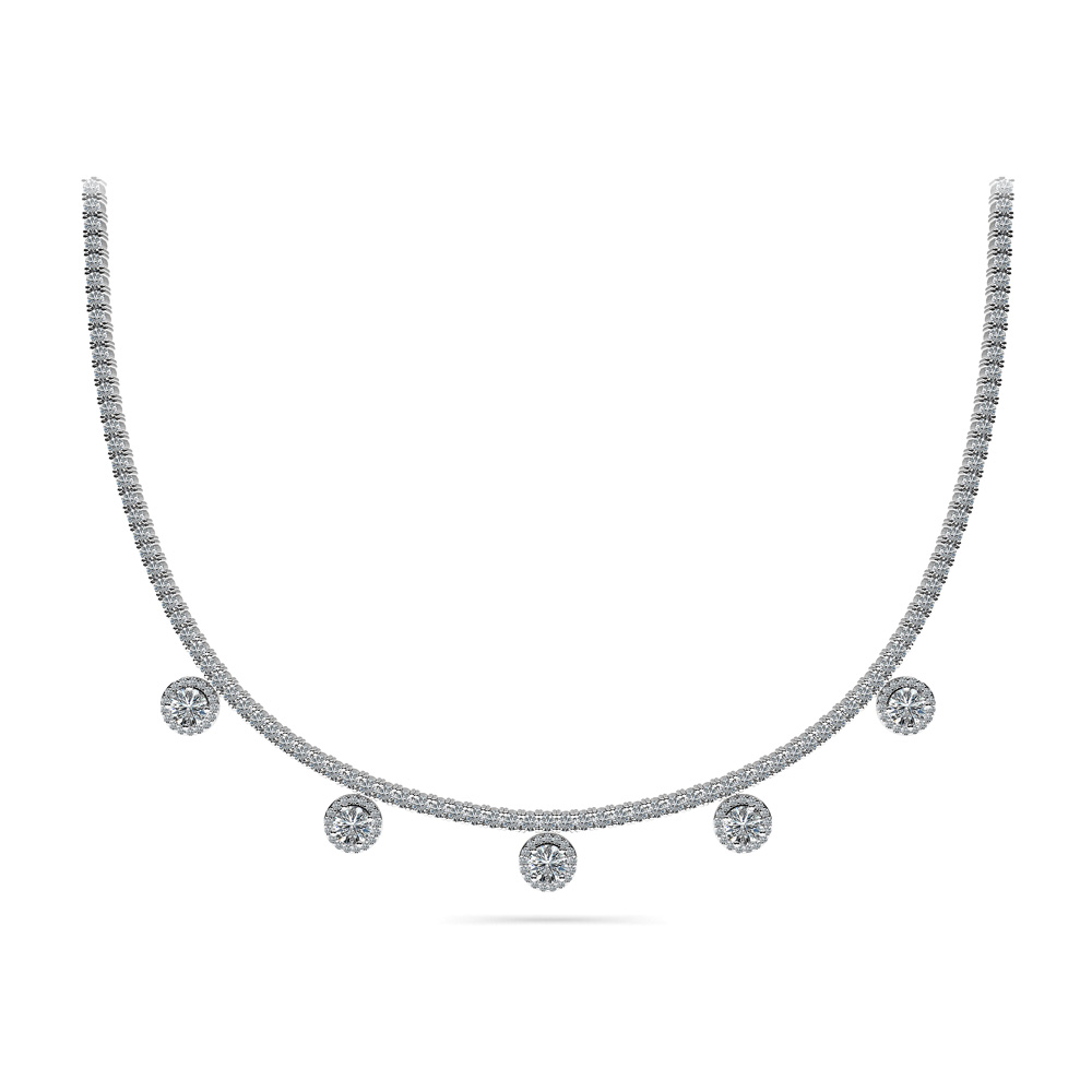 Image of Captivating Diamond Tennis Necklace