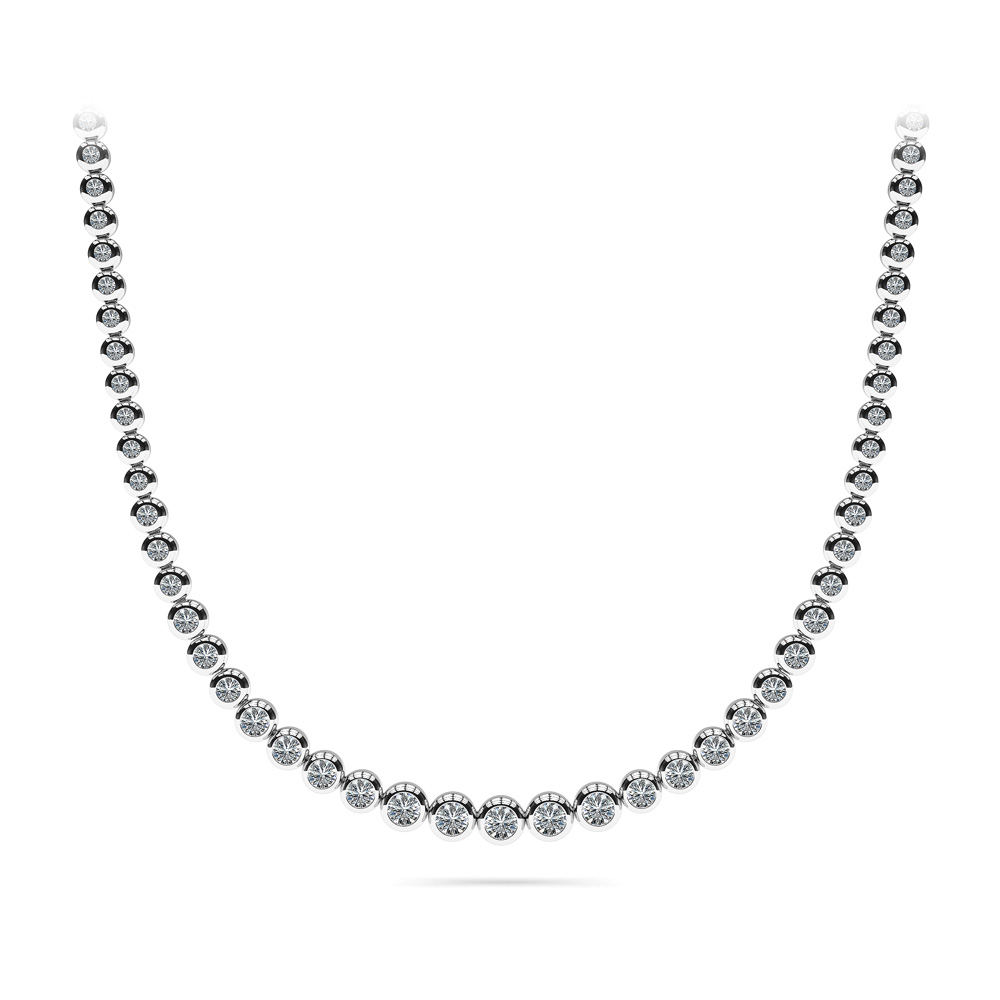Image of Brilliant Fire Graduated Diamond Strand Necklace