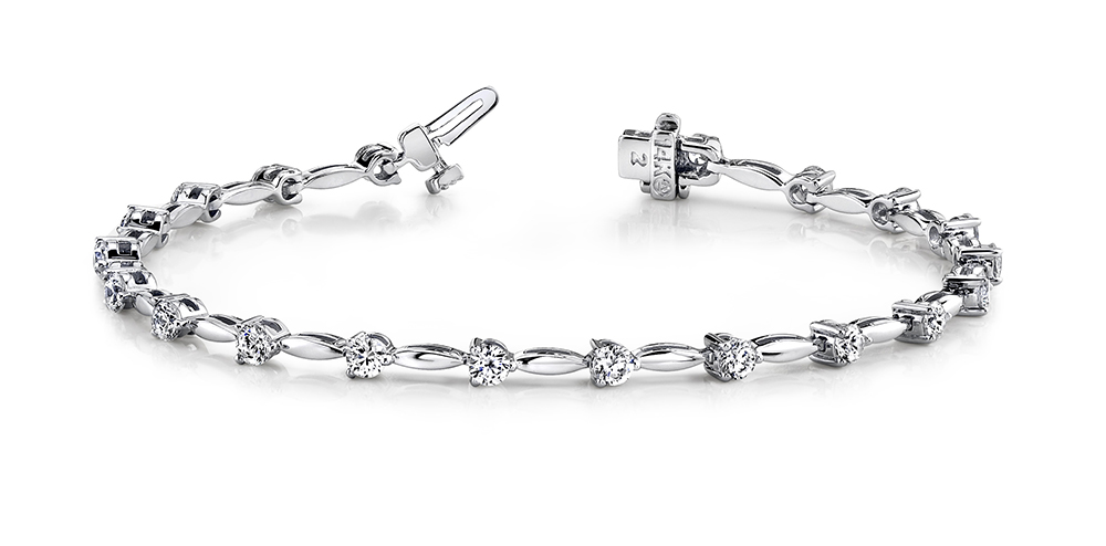 Image of Alternating Diamond Drop Bracelet
