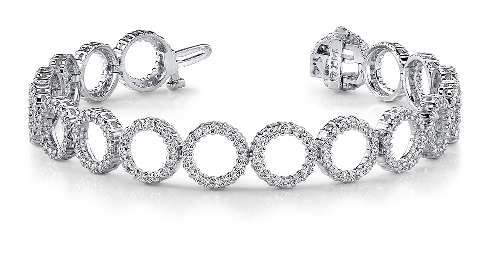 Image of Dripping with Diamonds Circle Link Bracelet