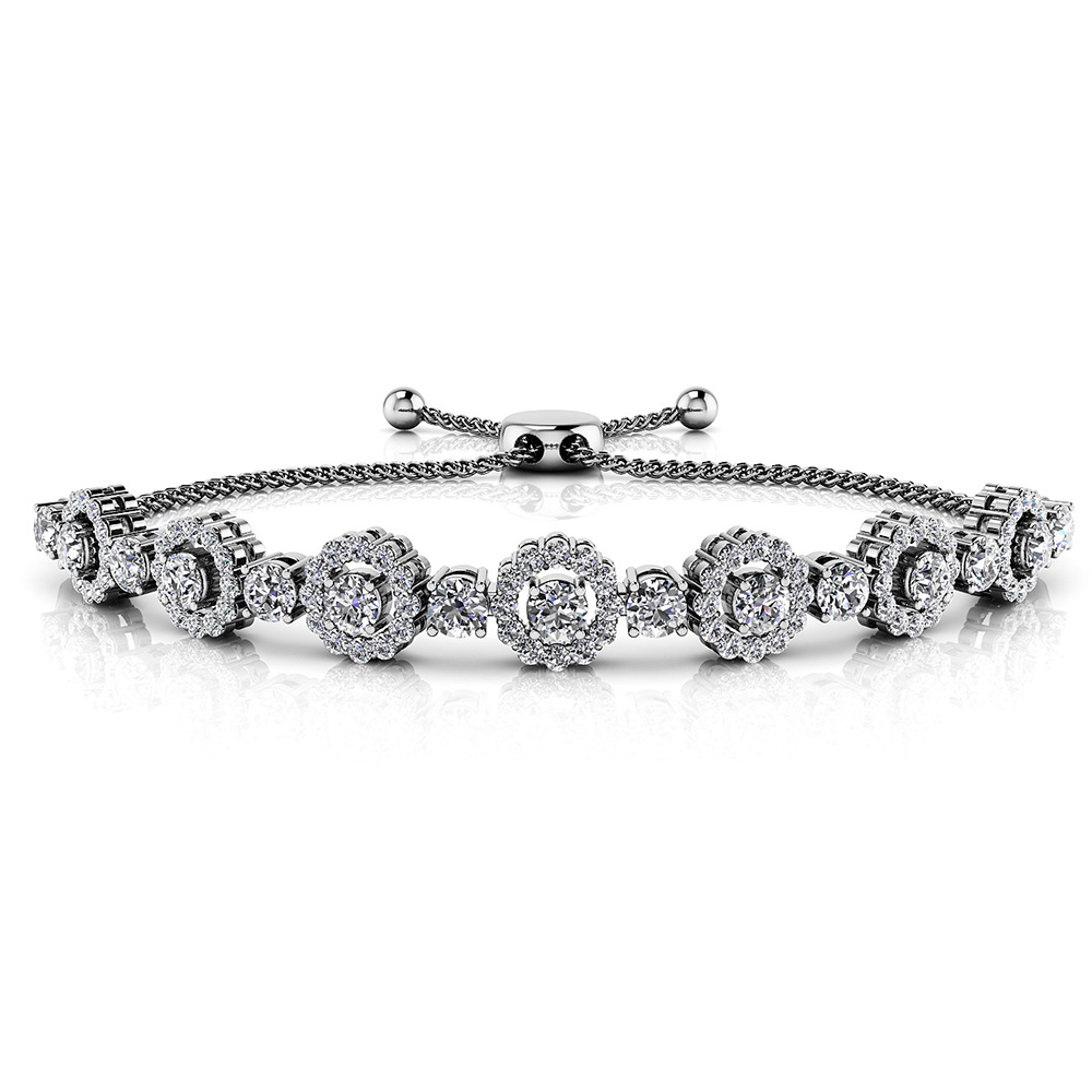 Image of Adjustable Diamond Circle Link Bracelet