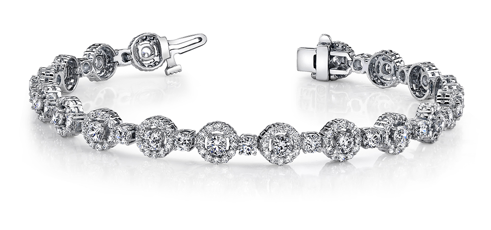 Image of All Diamond Circle Link Bracelet