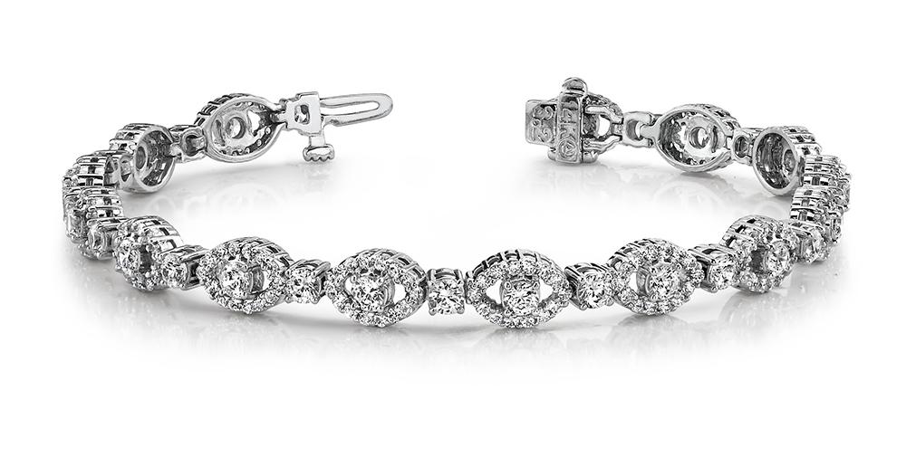 Image of Almond Link Diamond Bracelet