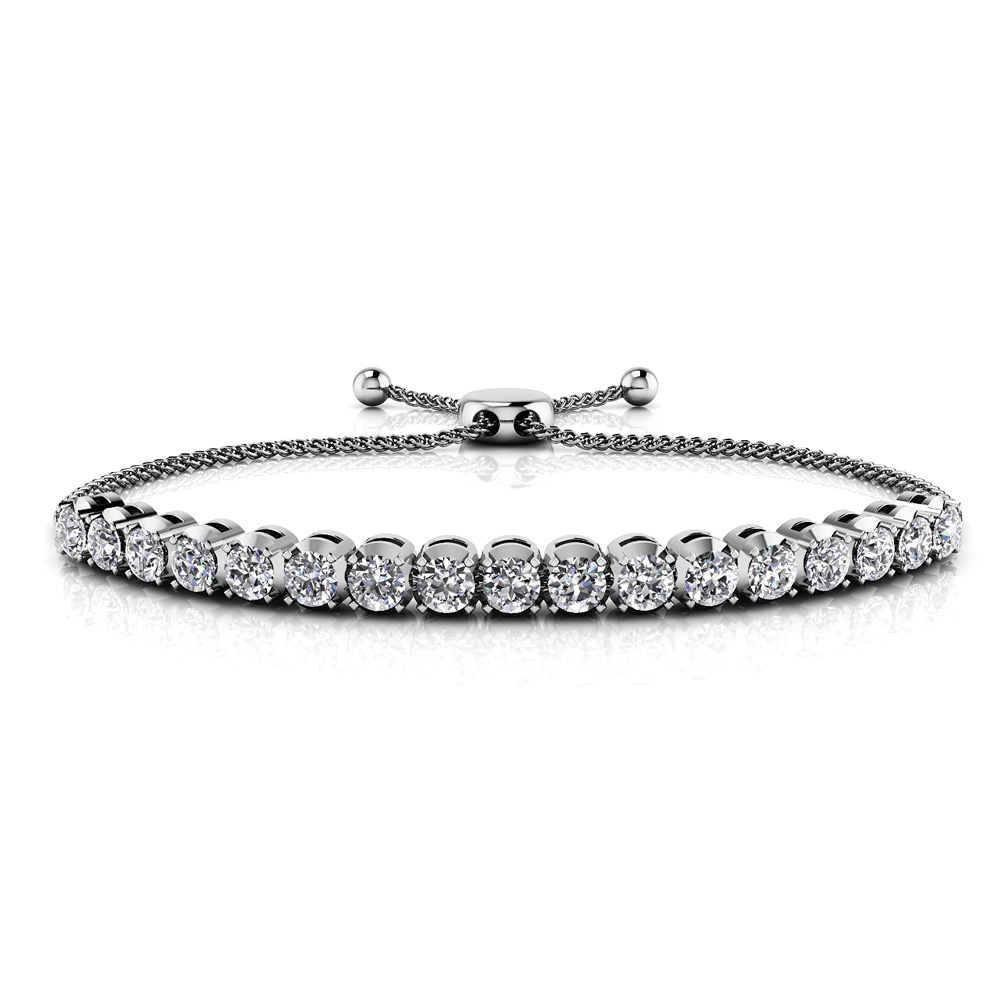Image of Classic 4 Prong Adjustable Diamond Bracelet