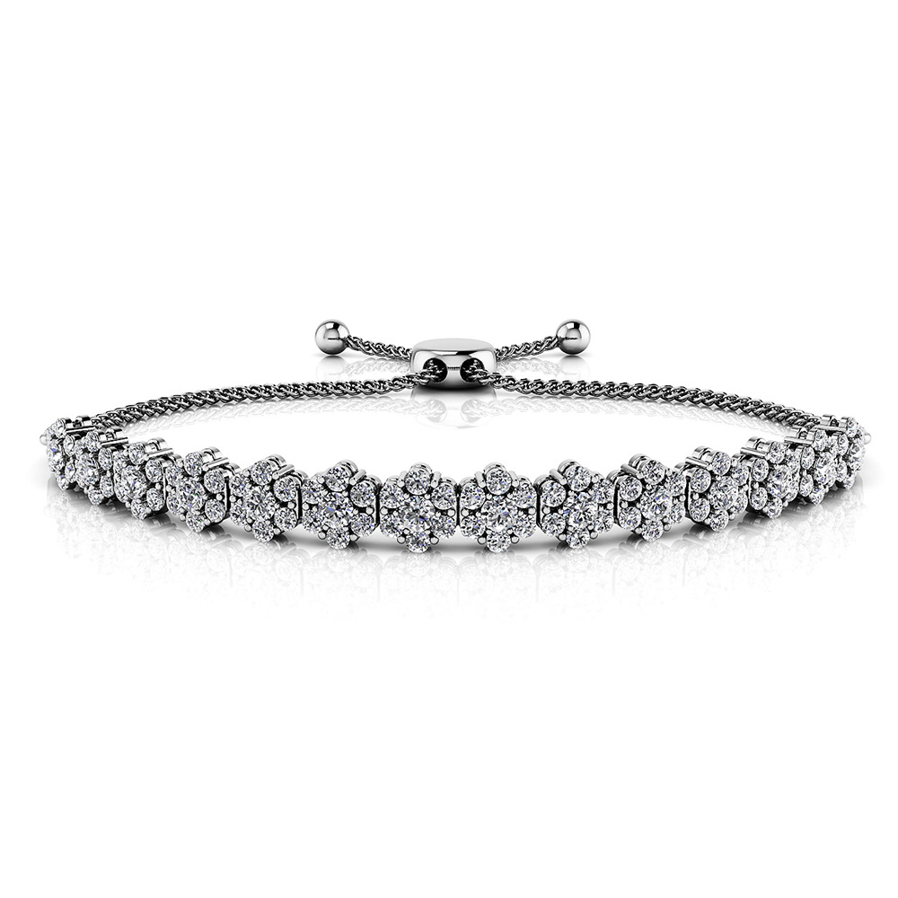 Image of Adjustable Fleur Diamond Bracelet