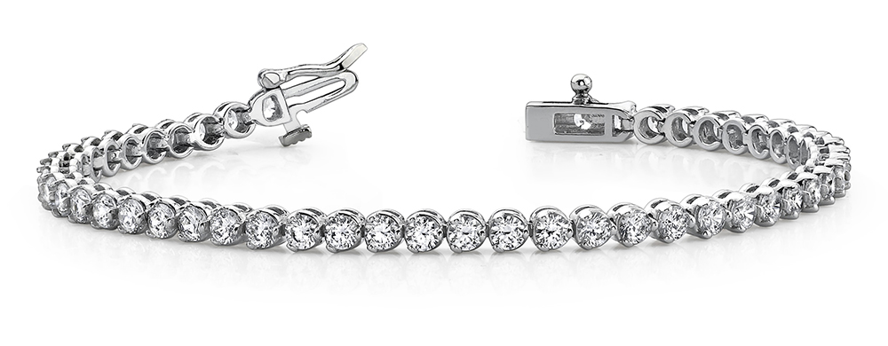 Image of Round Prong Set Diamond Tennis Bracelet